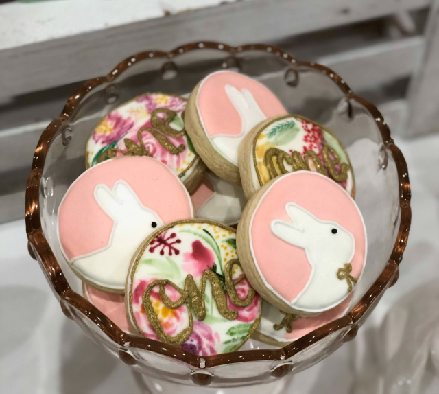 Bunny and Floral Cookies