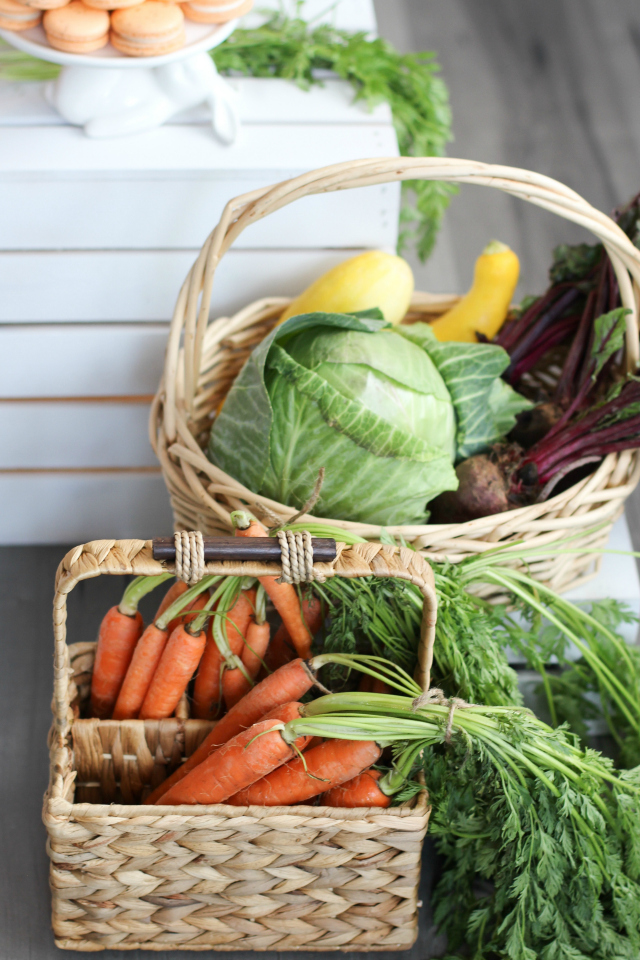 Veggie Basket Decor