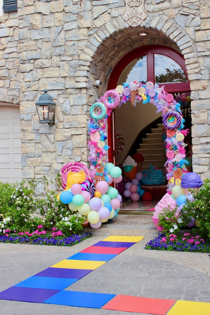 Whimsical Candyland Birthday Party Entrance Decoration
