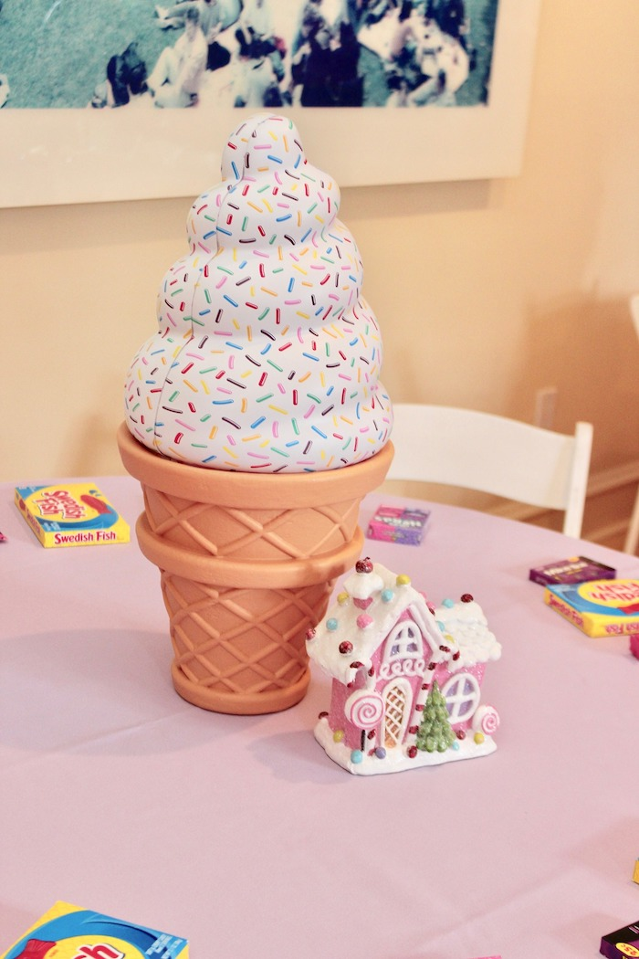 Whimsical Candyland Birthday Party Ice Cream Centerpiece