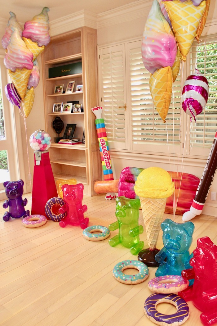 Whimsical Candyland Birthday Party Candy Decorations