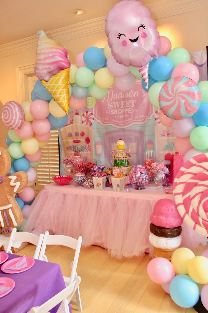 Whimsical Candyland Birthday Party Dessert Table
