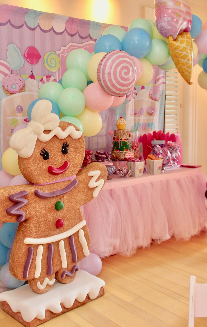 Whimsical Candyland Birthday Party Sweets Table