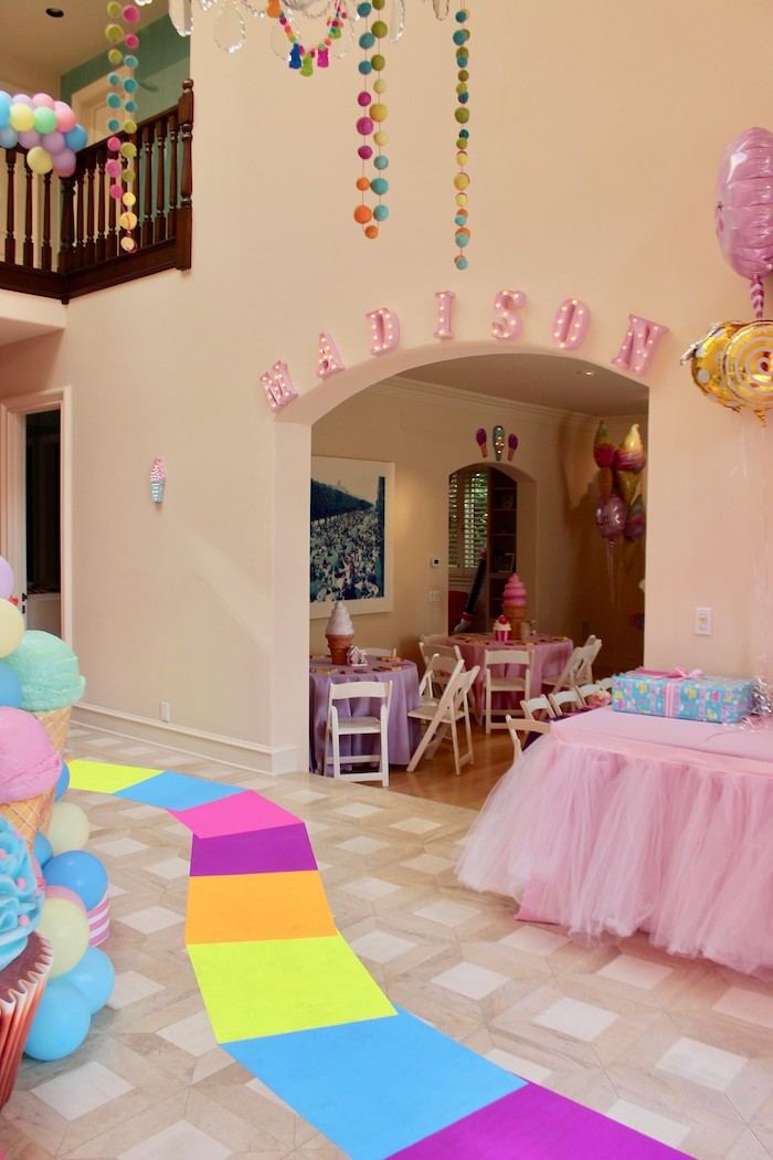 Whimsical Candyland Birthday Party Marquee Lights