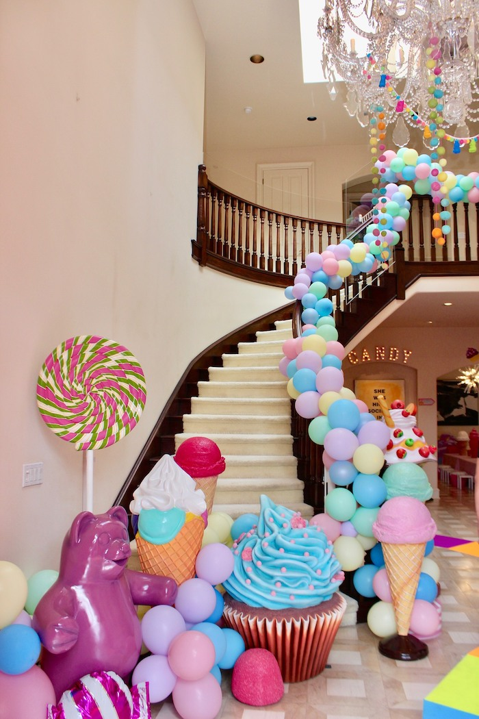 Whimsical Candyland Birthday Party Giant Candy Decorations