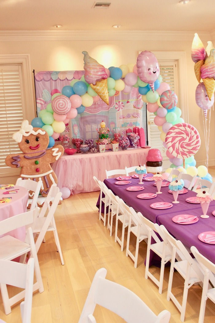 Whimsical Candyland Birthday Party Candy Table