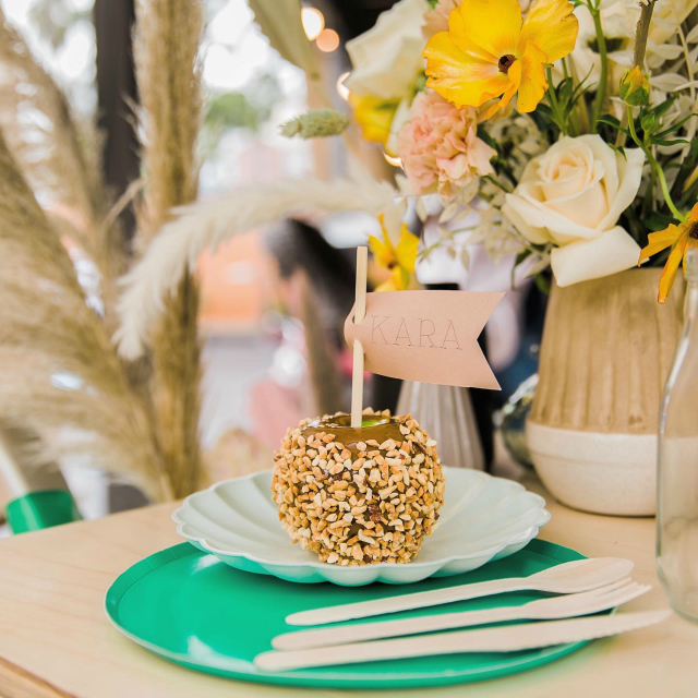 Girl Scout Party Caramel Apple Place Setting