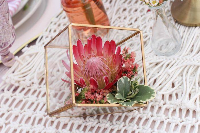 Celebrate Your Tribe Birthday Party Succulent Decor