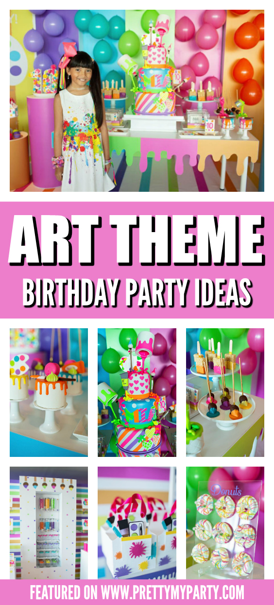 Art Themed Birthday Party on Pretty My Party