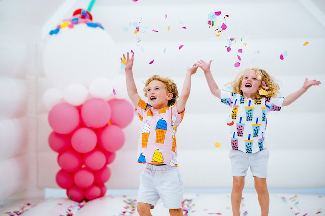 Confetti and Bounce House