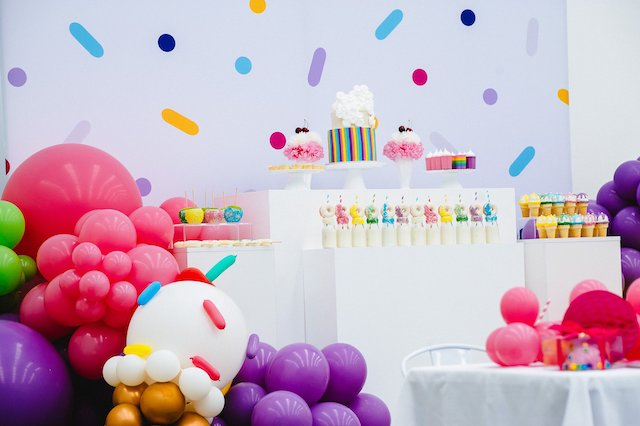 Confetti Sprinkles Party Desserts
