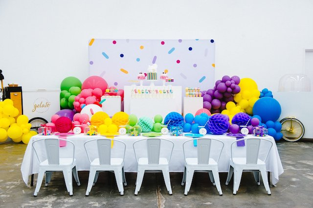 Confetti Sprinkles Themed Birthday Party Table