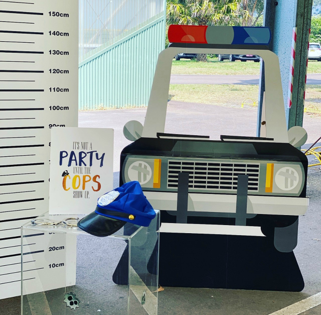 Cops and Robbers Party Police Car Photo Booth