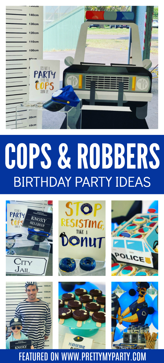 Cops and Robbers Themed Party on Pretty My Party