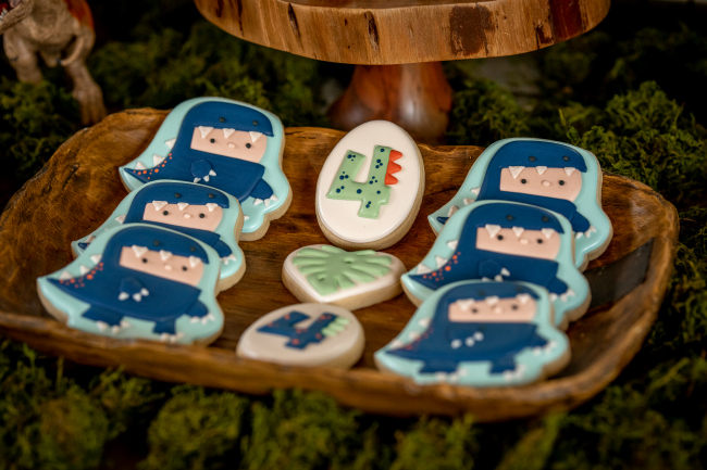Roaring Dinosaur Birthday Party Cookies