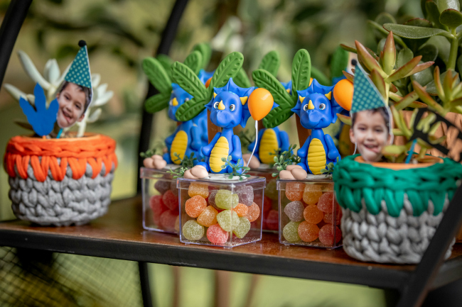 Roaring Dinosaur Birthday Party Candy Boxes