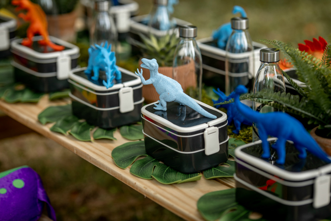 Roaring Dinosaur Birthday Party Table Setting