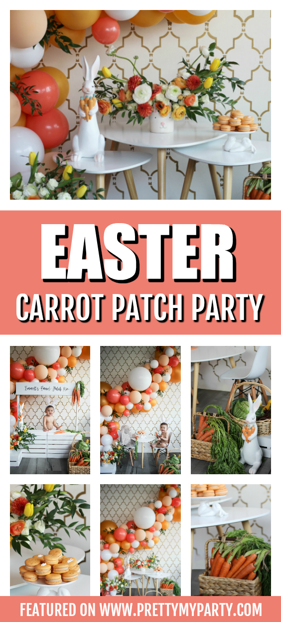 Easter Bunny Carrot Patch Photoshoot on Pretty My Party