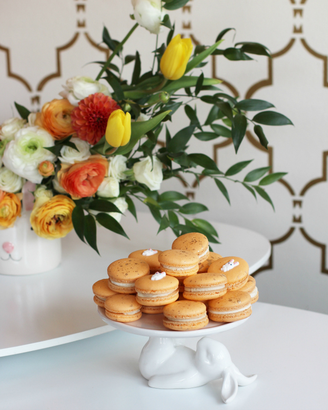 Easter Orange Macarons