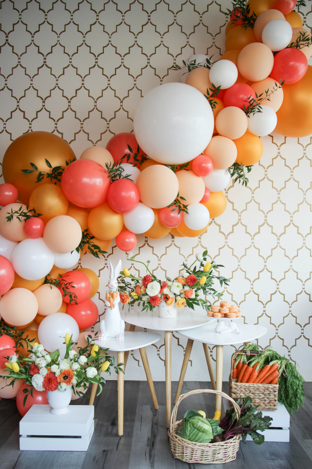 Easter Bunny Carrot Patch Party Backdrop