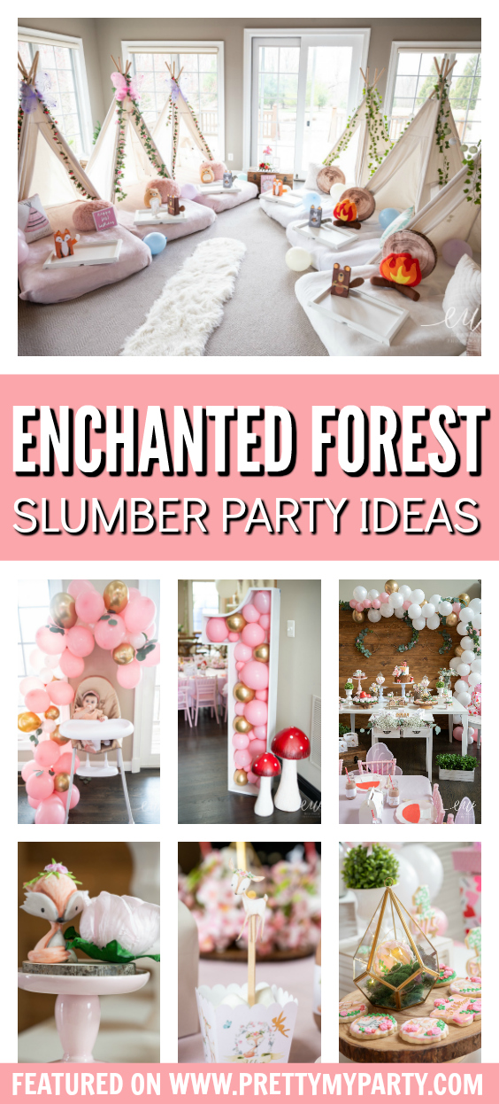 Enchanted Forest Slumber Party on Pretty My Party
