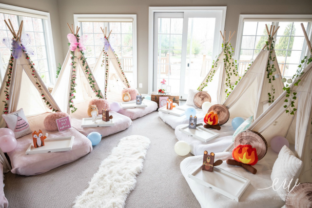 Enchanted Forest Slumber Party Teepee Tents