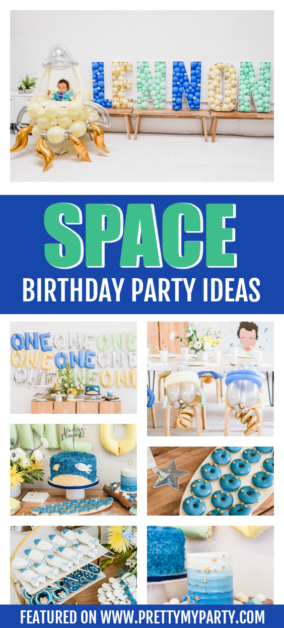First Launch Space Birthday Party on Pretty My Party