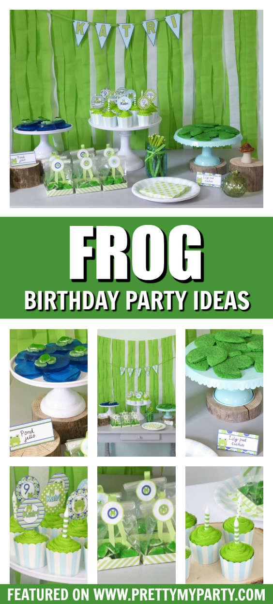 Frog Themed Birthday Party on Pretty My Party