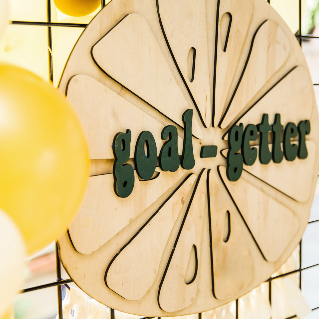 Girl Scout Themed Party Goal Getter Backdrop
