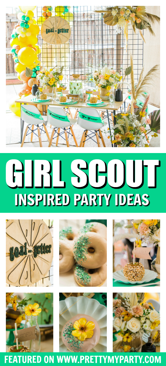 Girl Scout Inspired Party on Pretty My Party
