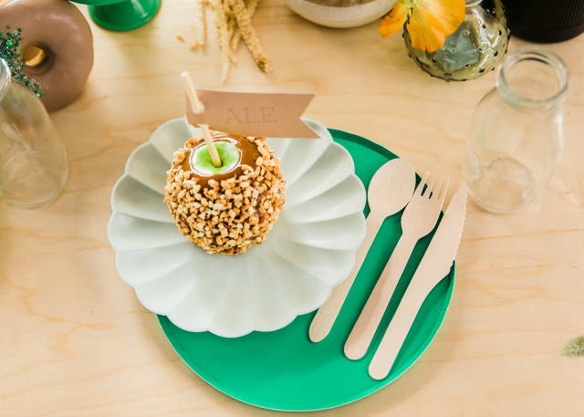 Girl Scout Inspired Party Table Setting