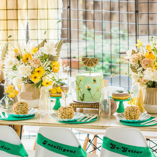 Girl Scouts Theme Party Table