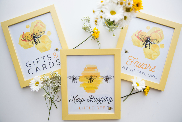 Honey Bee Birthday Party Signs
