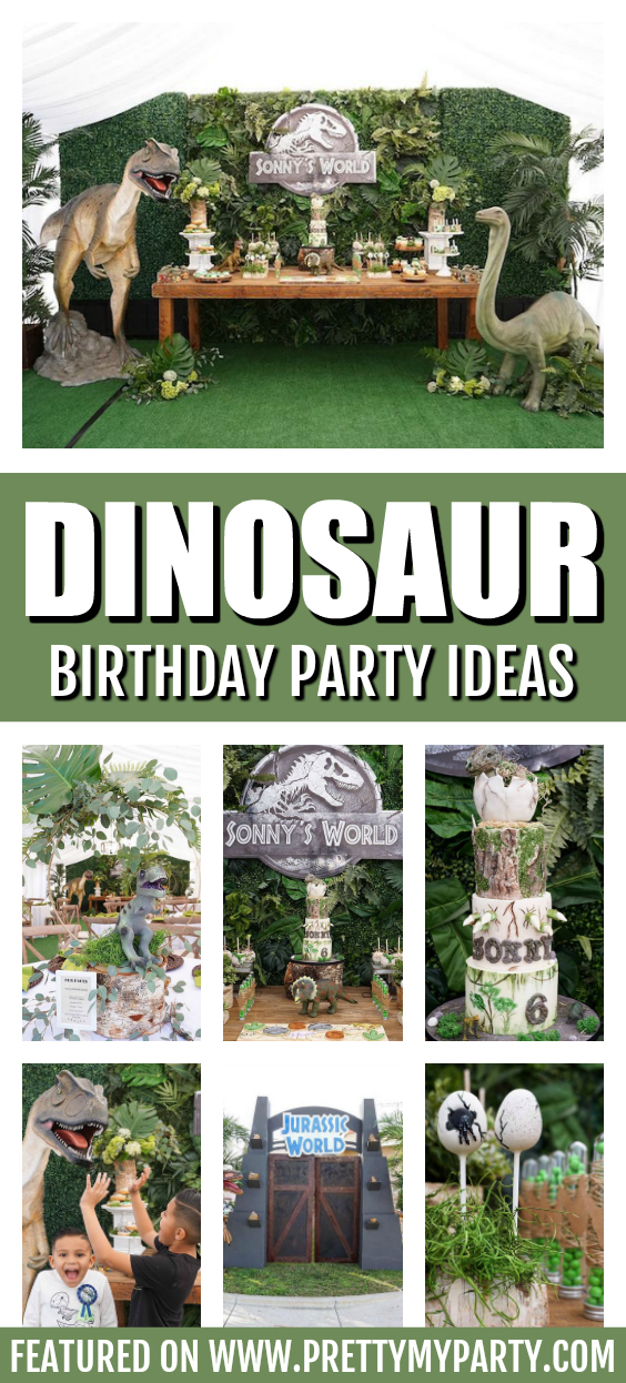 Jurassic World Themed Birthday Party on Pretty My Party
