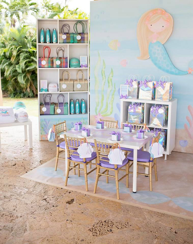 Shimmering Pastel Mermaid Birthday Party Theme