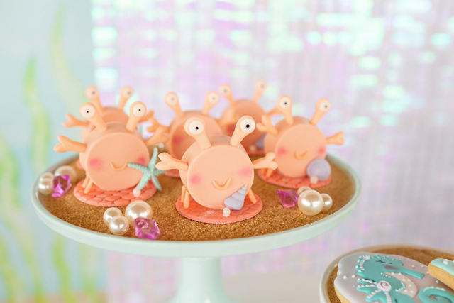 Mermaid Party Crab Desserts