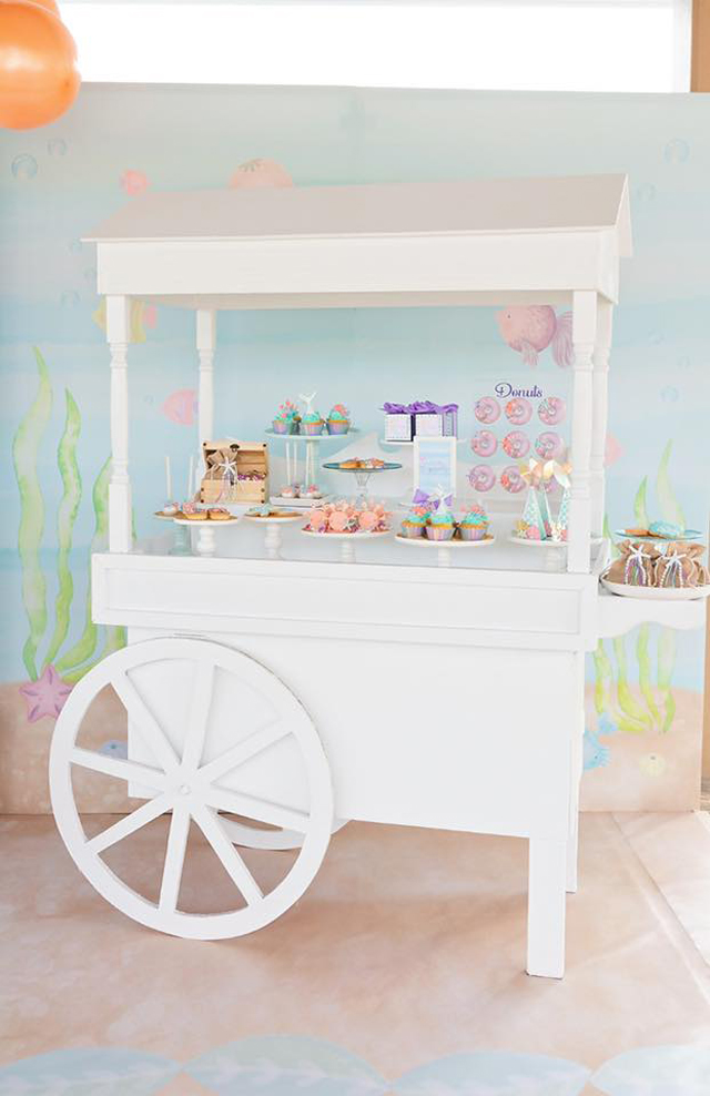 Mermaid Party Dessert Cart