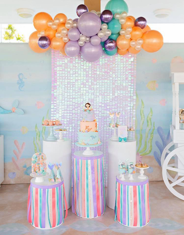 Shimmering Pastel Mermaid Birthday Party Desserts