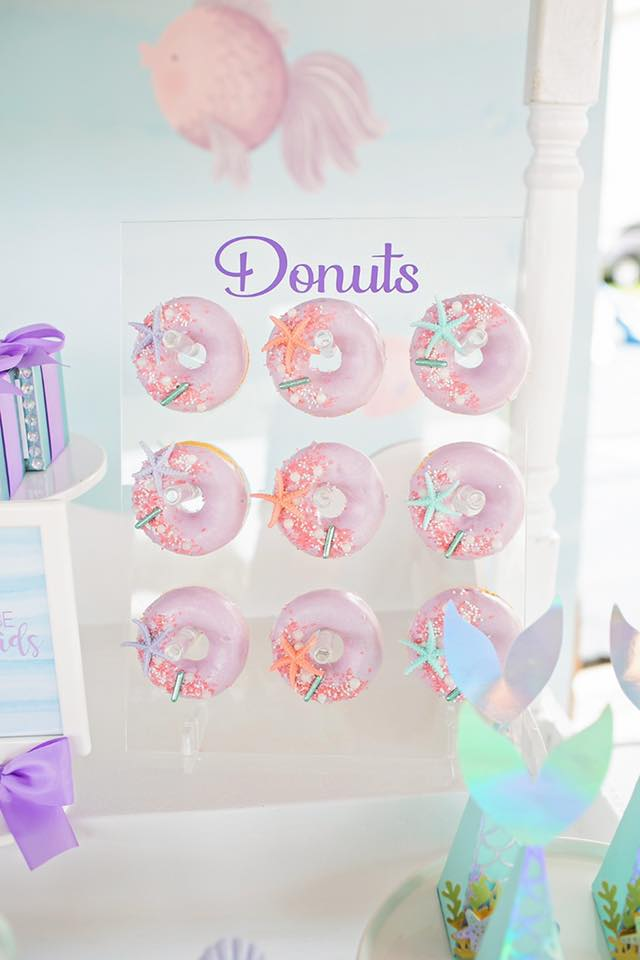 Mermaid Under the Sea Themed Donuts