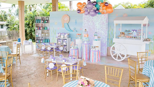 Shimmering Pastel Mermaid Birthday Party