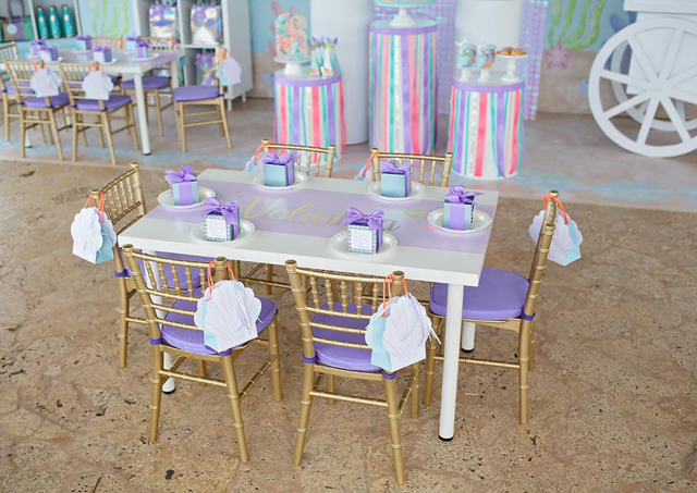 Shimmering Pastel Mermaid Birthday Party Table