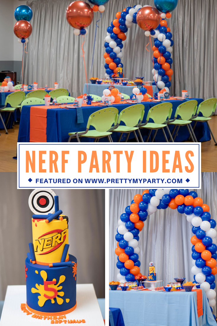 Nerf Themed Birthday Party on Pretty My Party