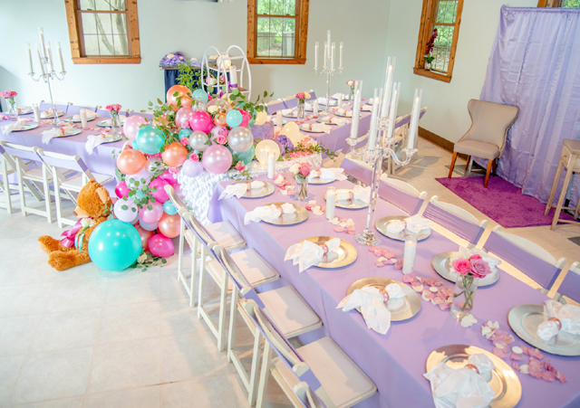 Pretty Pastel Baby Shower Table Ideas