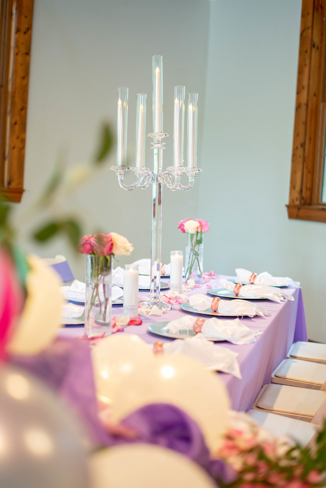 Tall Candle Table Centerpiece For Baby Shower