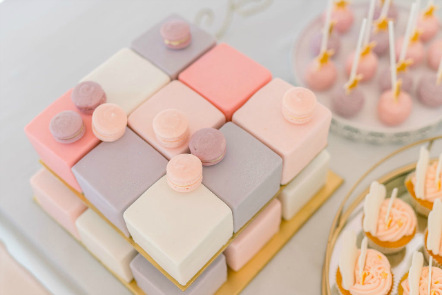 Pastel Pink and Purple Party Desserts