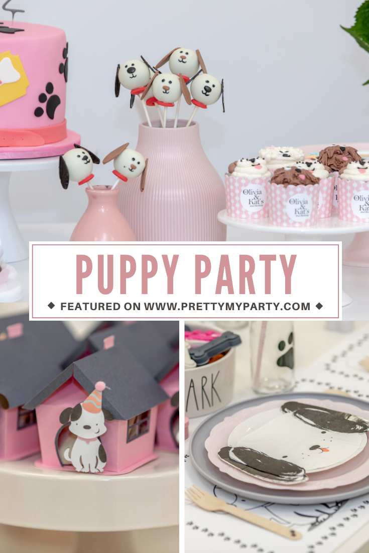 Pink Puppy Themed Party on Pretty My Party