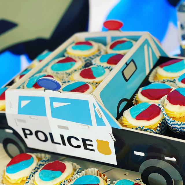 Police Party Cupcakes