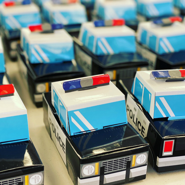 Police Car Party Favors