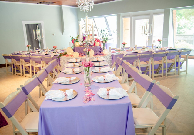 Pastel Baby Shower Tables