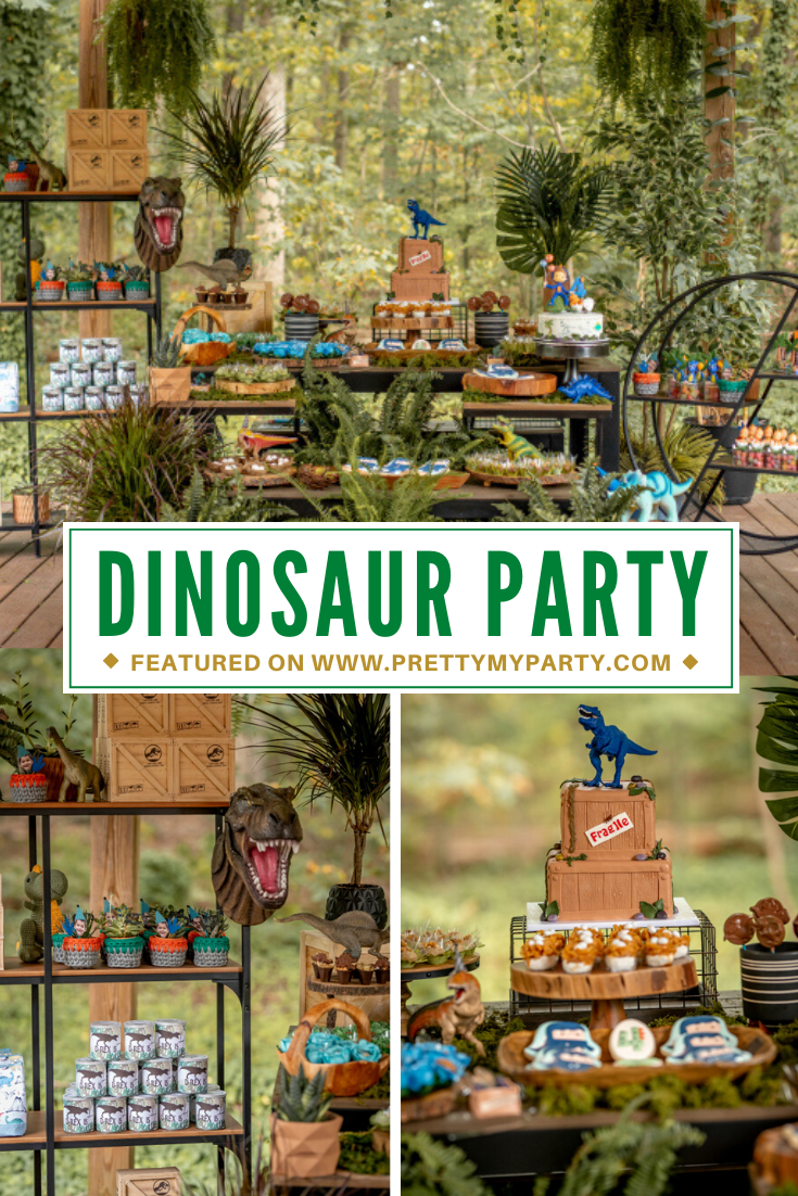 Roaring Dinosaur Birthday Party on Pretty My Party